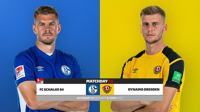 Trực tiếp Schalke vs Dynamo Dresden, 01h30 ngày 24/10, vòng 11 giải hạng 2 Đức